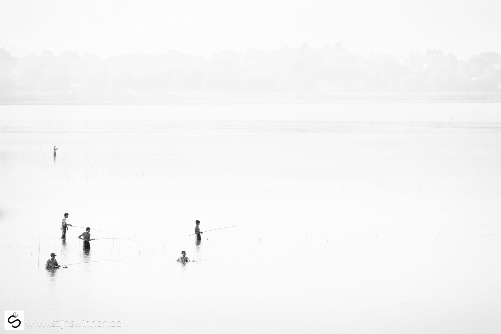 Fishermen near U Bein Bridge