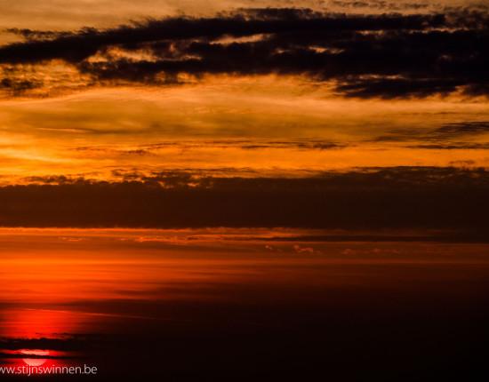 Sunset at chaungta beach in myanmar