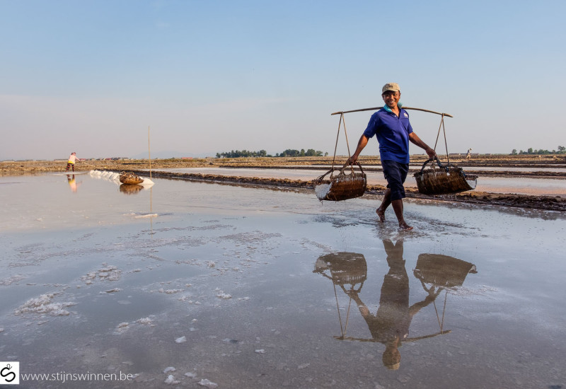 Salt plains of Kampot